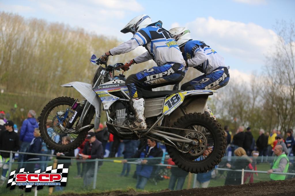 Estonian pair Varik/Miil at the race, photo Albert Schreuder