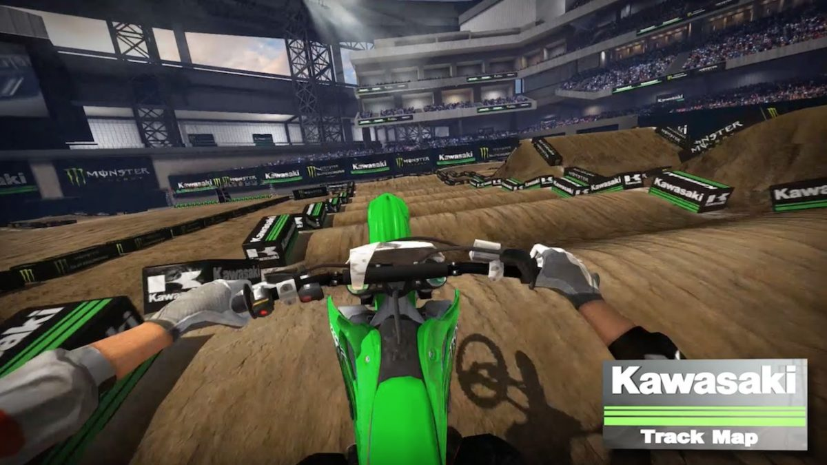 AMA Supercross 2017: Anaheim 1 Kawasaki Track Map