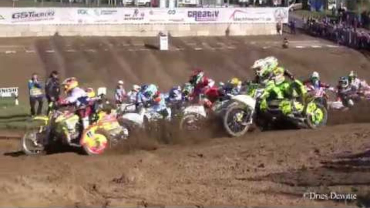 Külgvankrite Euroopa Rahvuste motokrossi 2019 sõitude video –  Dries Dewitte